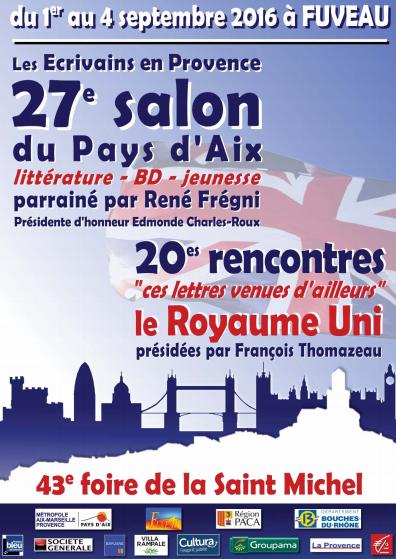 27ème Salon littéraire du Pays d'Aix à Fuveau, 2017