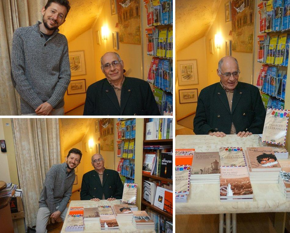 Dédicace de Gilles Ascaride à la librairie Le Blason, Aix-en-Provence, avril 2016