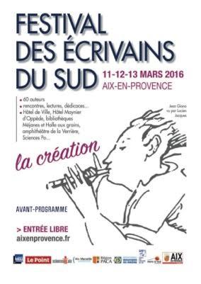 Festival des Écrivains du Sud, Aix-en-Provence, 2016