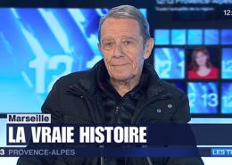 """Jean Contrucci invité au journal télévisé de France 3 PACA pour présenter """"La vérité vraie sur la fondation de Marseille (Récit homérique)"""" le 12 décembre 2017"""