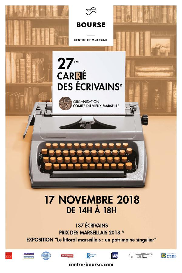 Marseille, 27ème carré des écrivains, samedi 17 novembre 2018