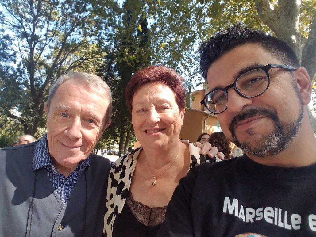 Les Ecrivains en Provence, 30ème salon à Fuveau, les auteurs du Fioupélan avec l'organisatrice