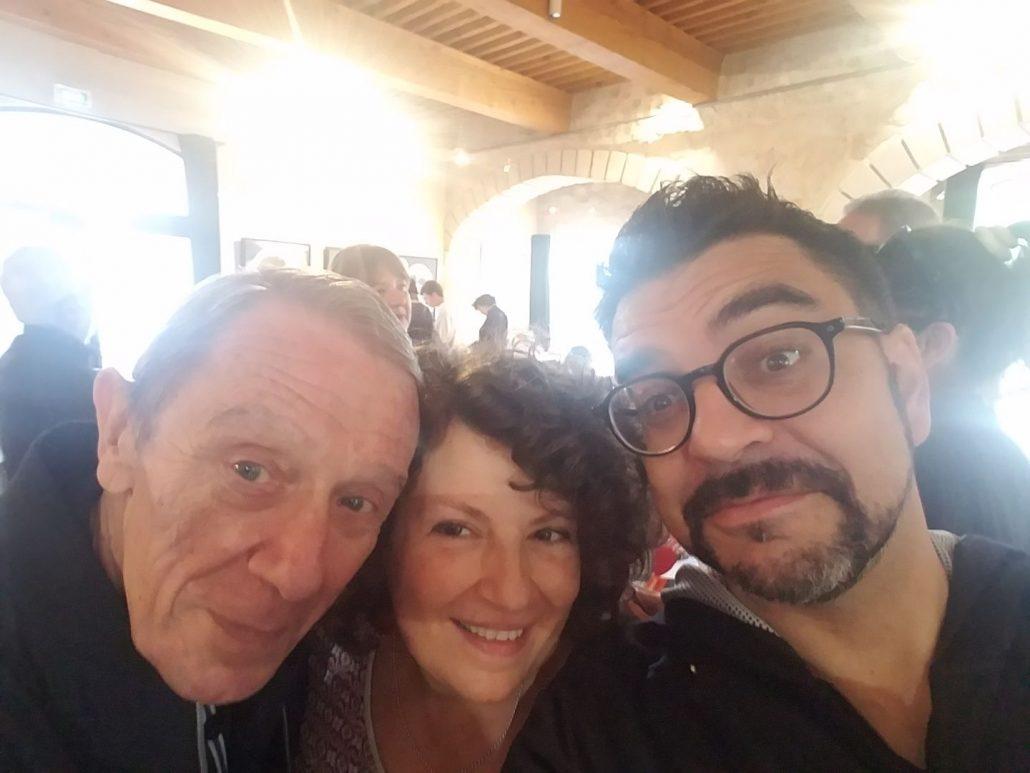 Rita, Jean Contrucci et Médéric Gasquet-Cyrus au festival La journée des écrivains de Provence à Trets, 19 octobre 2019