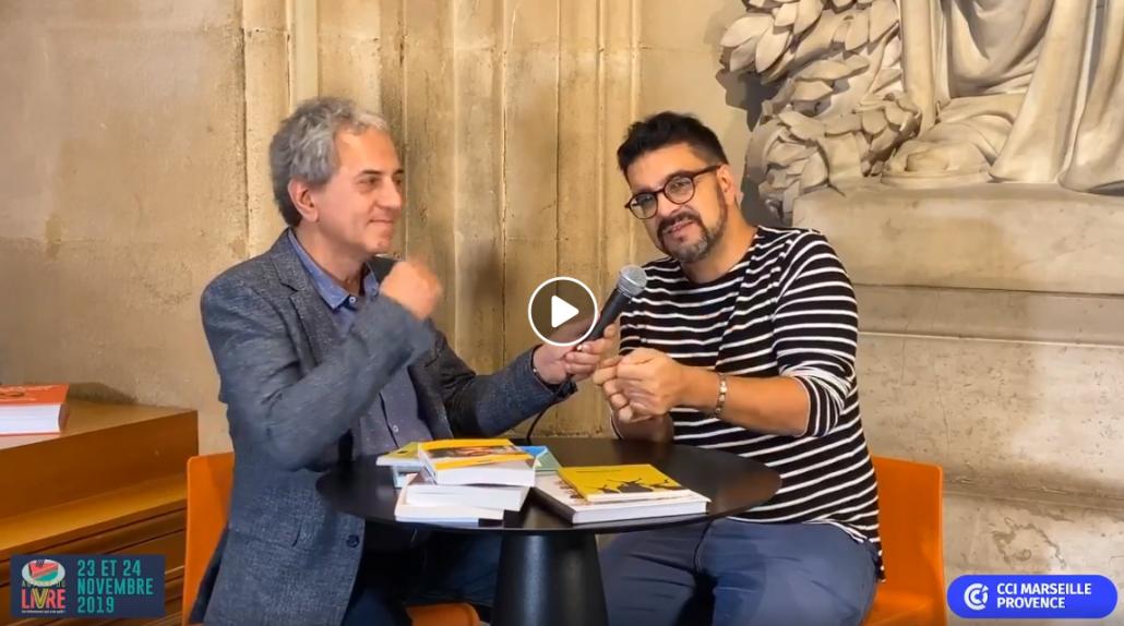 Médéric Gasquet-Cyrus au salon Autour du livre, Palais de la bourse, Marseille, 2019
