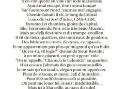 """Drame de Noailles, ils l'avaient écrit, La Provence, lundi 17 décembre 2018, """"Qui es-tu vil logis ? demanda Sieur Bastide"""", in """"Dites-le en marseillais"""", de Médéric Gasquet-Cyrus"""